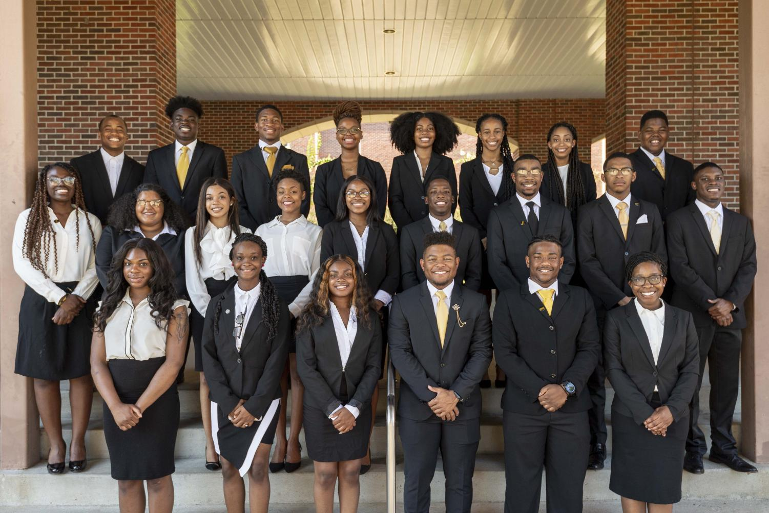 First row (L-R):  Jaylen Thomas, Janica Brooks, Morgan Lang, Jayden Sloan, Kishun Williams, Courtney Conners.  Second row (L-R): Ayanna Williams, D'Asia Lashley, Grace Dozier, Dasani Stallworth, Jeremi Moore, Curtis Watson, Dylan Stallworth, Aaron Shanks.  Third row (L-R):  Amir McKinstry, Desmond Paster, Austtin Poindexter, Monet Jenkins, Mariah Turner, Haven Primm, Celeste Frazier, Patrick Evans