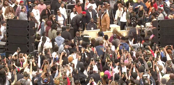 Kanye West Took His Sunday Service To Howard Homecoming