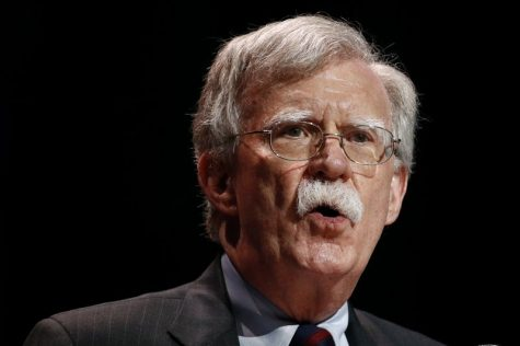 In this July 8, 2019, file photo, national security adviser John Bolton speaks at the Christians United for Israel