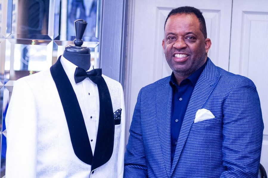 Alumnus+Kim+Salter+is+the+owner+of+Evening+Out+Formal+Wear%2C+the+only+formal+wear+outlet+in+Montgomery+that+is+black+owned.++He+graduated+from+Alabama+State+University+in+1988.