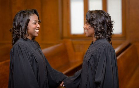 Identical twin judges encourage COBA students to set goals despite adversities
