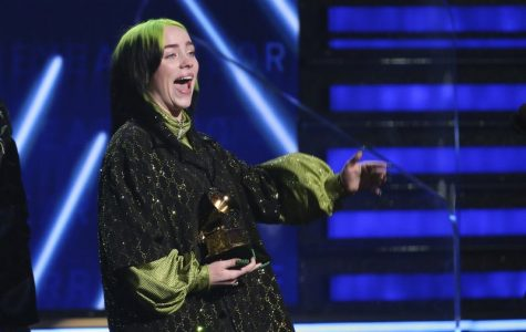 Billie Eilish accepts the award for record of the year for