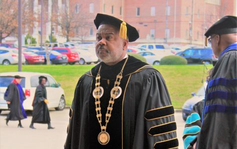 Alabama State University's 15th President, Dr. Quinton T. Ross leads the Founder's Day Convocation processional.