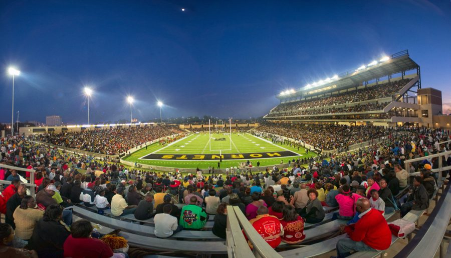 The opening of the new stadium was realized in November 2013 for as the Hornets played Tuskegee University for the 89th Turkey Day Classic football game.