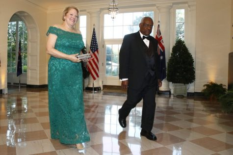 "In this Sept. 20, 2019, file photo, Supreme Court Associate Justice Clarence Thomas, right, and wife Virginia ""Ginni"" Thomas arrive for a State Dinner with Australian Prime Minister Scott Morrison and President Donald Trump at the White House in Washington. Ginni Thomas is using her Facebook page to amplify unsubstantiated claims of corruption by Joe Biden. She is a longtime conservative activist who asked her more than 10,000 followers Oct. 26, 2020, to consider sharing a link focused on alleged corruption by Biden and his son, Hunter, as well as claims that social media companies are censoring reports about the Bidens. (AP Photo/Patrick Semansky, File)"