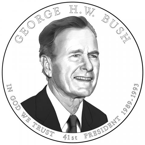 US Mint selects ASU professor to design George H.W. Bush Presidential $1 coin