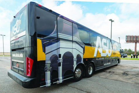 After 11 years, Alabama State University leased four new buses with enhancements such as electrical plugs, chargers, monitors and HDMI ports as transporation for students, faculty and administrators.