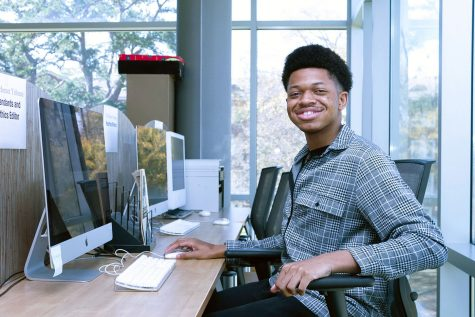 Micah Sanders, a junior communications major, landed a paid internship with Paramount Pictures national publicity department.