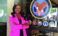 Alabama State University alumna Kroshona Tabb, Ph.D., who works as the health systems specialist and executive assistant to the chief of staff at the Birmingham, Alabama location of the U. S. Department of Veterans Affairs (VA). As a student, Tabb served as a staff reporter for The Hornet Tribune and was eventually promoted to the managing editor of the editorial operations.