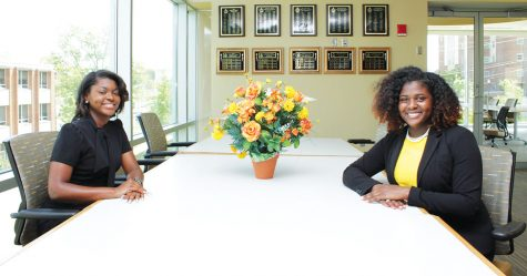 (L-R) Newly elected Jaylan Brown will serve as the Student Body Vice President and Gem Richardson will serve as the Student Body President