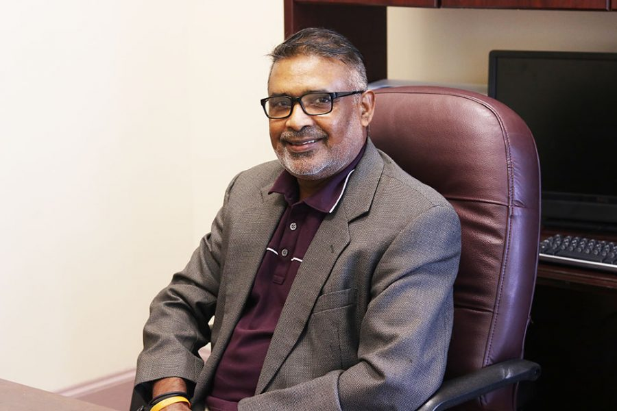 Ramakrishnan (Ram) Alagan, Ph.D., will serve as the interim W.E.B. DuBois Honors Director.  He is a professor of geography in the Department of Advancement Studies.