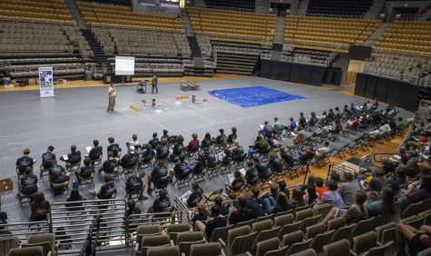 Middle and high school students in the state of Alabama assembled in the Acadome to learn the rules for the competition.